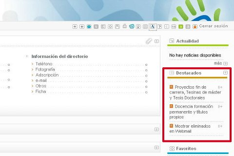 Módulo destacados en la Intranet 2.0